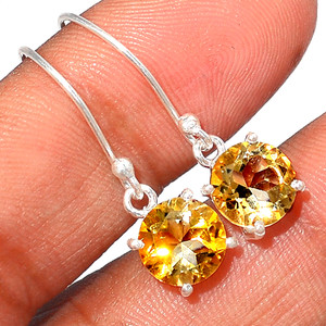 Citrine 925 Sterling Silver Earrings Jewelry CITE1582