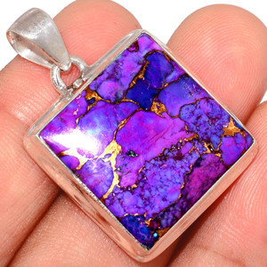 Copper Purple Turquoise 925 Sterling Silver Pendant  Jewelry PCTP2117