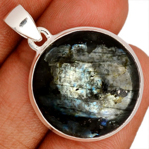 Larvikite Black Moonstone 925 Sterling Silver Pendant  Jewelry LBMP671