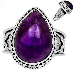 Amethyst 925 Sterling Silver Ring Jewelry s.9 AMCR1920