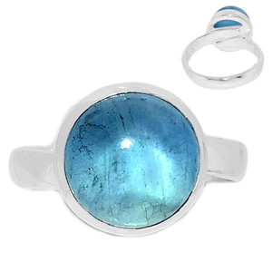Adjustable Ring - Aquamarine 925 Sterling Silver Ring Jewelry s.7.5 AQMR959