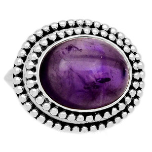 Amethyst 925 Sterling Silver Ring Jewelry s.6 AMCR1915