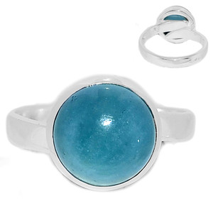 Adjustable Ring - Aquamarine 925 Sterling Silver Ring Jewelry s.8 AQMR965