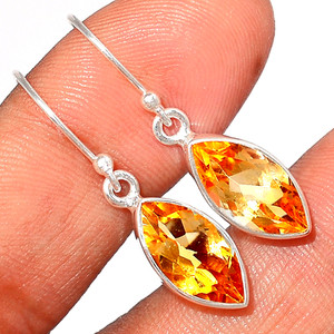 Citrine 925 Sterling Silver Earring  Jewelry CITE1583