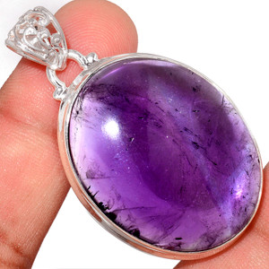 17g Amethyst 925 Sterling Silver Pendant  Jewelry AMCP1785