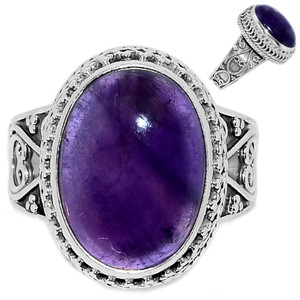 Amethyst 925 Sterling Silver Ring Jewelry s.11 AMCR2011