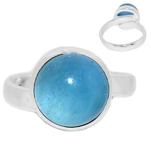 Adjustable Ring - Aquamarine 925 Sterling Silver Ring Jewelry s.7 AQMR968