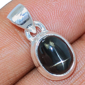 Black Star - Star Diopside 925 Sterling Silver Pendant  Jewelry BSTP331