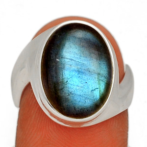 Blue Fire Labradorite 925 Sterling Silver Ring Jewelry s.7 BFLR2401