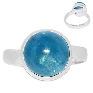 Adjustable Ring - Aquamarine 925 Sterling Silver Ring Jewelry s.7.5 AQMR955