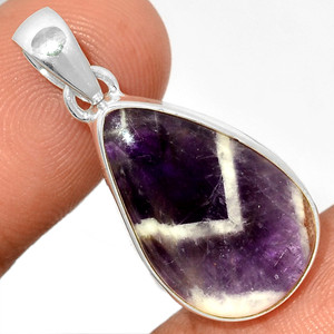 Amethyst Lace Agate 925 Sterling Silver Pendant  Jewelry ALAP802