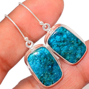 Neon Blue Apatite Cab 925 Sterling Silver Earrings Jewelry NACE25