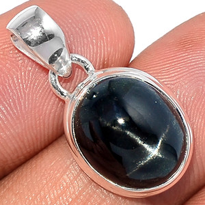 Black Star - Star Diopside 925 Sterling Silver Pendant  Jewelry BSTP347