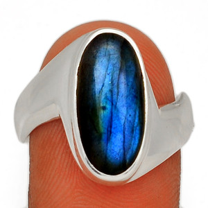 Blue Fire Labradorite 925 Sterling Silver Ring Jewelry s.9 BFLR2405