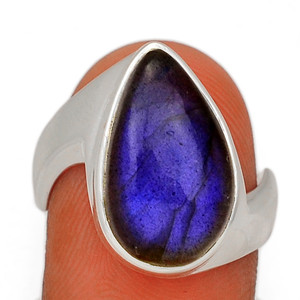 Blue Fire Labradorite 925 Sterling Silver Ring Jewelry s.7.5 BFLR2489