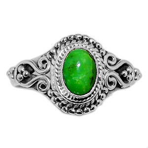 Green Mohave Turquoise 925 Sterling Silver Ring Jewelry s.7 GMTR658