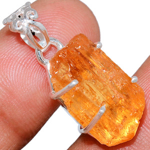 Imperial Topaz 925 Sterling Silver Pendant  Jewelry IMTP243
