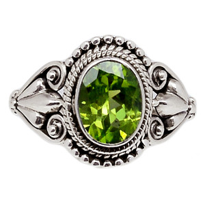 Peridot 925 Sterling Silver Ring Jewelry s.6 PDTR625