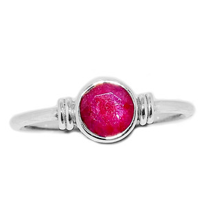Ruby 925 Sterling Silver Ring Jewelry s.7.5 RBYR324