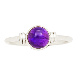 Amethyst 925 Sterling Silver Ring Jewelry s.5.5 AMCR1999