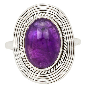 Amethyst 925 Sterling Silver Ring Jewelry s.9 AMCR1978