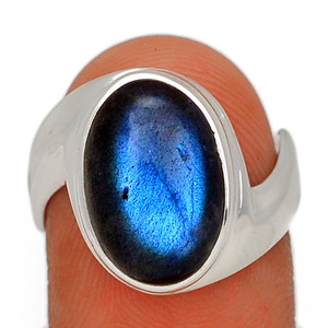 Blue Fire Labradorite 925 Sterling Silver Ring Jewelry s.7 BFLR2516