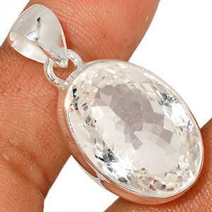 Crysal 925 Sterling Silver Pendant  Jewelry CRYP1489