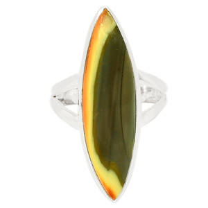 Imperial Jasper 925 Sterling Silver Ring Jewelry s.6 IMPR273