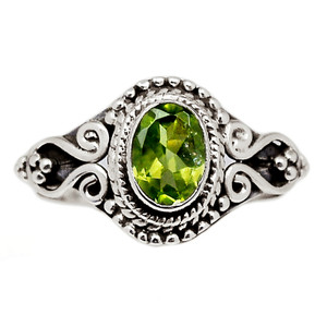 Peridot 925 Sterling Silver Ring Jewelry s.8 PDTR637