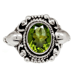 Peridot 925 Sterling Silver Ring Jewelry s.7 PDTR630