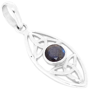 Faceted Labradorite 925 Sterling Silver Pendant Jewelry P1364LBF