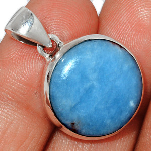 Angelite 925 Sterling Silver Pendant  Jewelry ANGP691