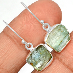 Aquamarine Rough 925 Sterling Silver Earrings Jewelry AQRE114