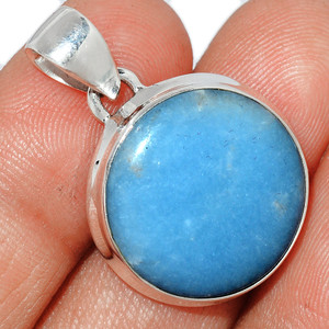 Angelite 925 Sterling Silver Pendant  Jewelry ANGP698