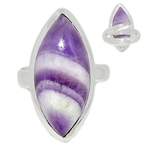 Adjustable Ring - Amethyst Lace Agate 925 Sterling Silver Ring Jewelry s.6.5 ALAR480