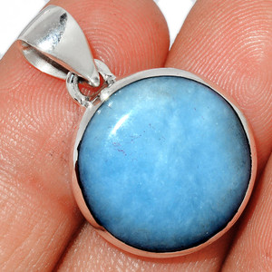 Angelite 925 Sterling Silver Pendant  Jewelry ANGP697
