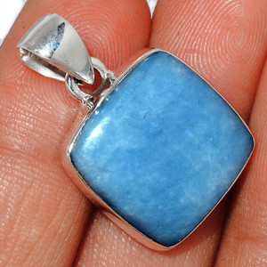 Angelite 925 Sterling Silver Pendant  Jewelry ANGP675