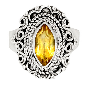 Citrine - Brazil 925 Sterling Silver Ring XGB Jewelry s.6 BR21369 243E