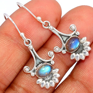 Labradorite - Madagascar 925 Sterling Silver Earring XGB Jewelry BE15841 284D