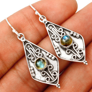 Labradorite - Madagascar 925 Sterling Silver Earring XGB Jewelry BE16272 292D