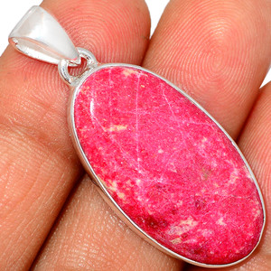 Pink Thulite - Norway 925 Sterling Silver Pendant XGB Jewelry BP30633