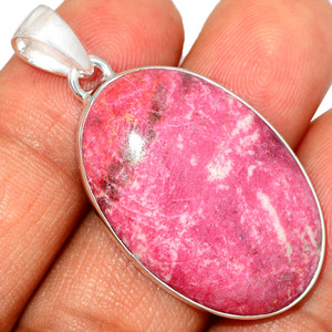 Pink Thulite - Norway 925 Sterling Silver Pendant XGB Jewelry BP30630