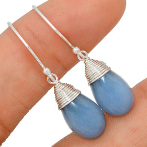 Angelite - Peru 925 Sterling Silver Earring Jewelry BE18650 213F