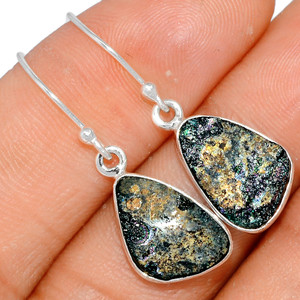 Ancient Roman Glass 925 Sterling Silver Earrings XGB Jewelry BE24037
