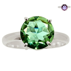 Colorchange Alexandrite (Lab.) 925 Sterling Silver Ring Jewelry s.9 BR39010