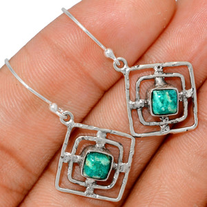 Russian Amazonite 925 Sterling Silver Earrings XGB-Jewelry BE24457 203I