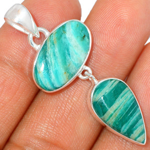Russian Amazonite 925 Sterling Silver Pendant XGB Jewelry BP43490
