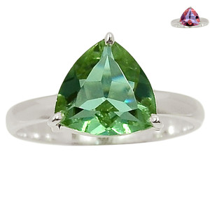 Colorchange Alexandrite (Lab.) 925 Sterling Silver Ring Jewelry s.9 BR39012