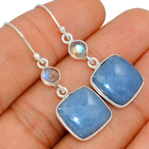 Angelite - Peru & Moonstone 925 Sterling Silver Earring XGB Jewelry BE23208