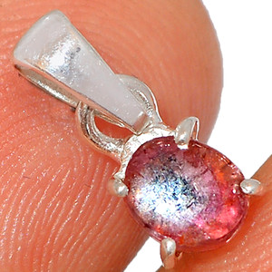 Watermelon Tourmaline 925 Sterling Silver Pendant XGB Jewelry BP40069